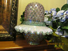 BEAUTIFUL FENTON HOBNAIL 3 PIECE FAIRY LAMP
