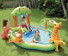 Intex Jungle Inflatable Swimming Pool Play Center Slide Sprayer Kid 7 X 6 X 4 FT