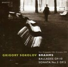 J. BRAHMS - Piano Sonata 3 / Ballades Op 10 - CD - Import - **Mint Condition**
