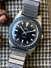 Rare Vintage Gruen Ghost Dive Watch Skin Diver Compressor Men's Stainless Steel