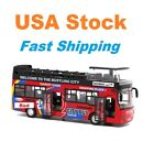 Sightseeing Bus City ToursLightSoundDieCast Toy CarDouble Decker 7 132