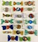 Vintage Lot 20 Murano Italy Hand Blown Glass Candy