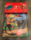 New Nintendo Switch 32GB Neon Console Red Joy Cons Ring fit adventure bundle