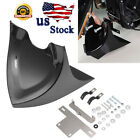 Gloss Black Chin Fairing Front Spoiler for Harley Dyna Fatboy Softail 2004-2017