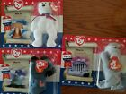 Set 3 Ty McDonalds Beanie Babies American Patriotic Trio Lefty Righty Libearty