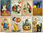 Halloween Scrapbook Stickers Fall Decoration Vintage Spooky Card Tags 1 Sheet