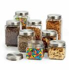 Glass Canister Set 8 Jars and Lids