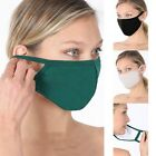 Soft Cotton Face Mask Double Layer w pocket Reusable Washable Men Women Fashion