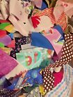 New Fabric Scraps Quilting Scrapbooking Doll Clothes Lot Of 10
