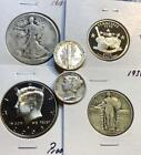 Grab Bag  20 US Coins w Silver BU  Proof Coins Included  55 75 Value