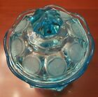 Fostoria COIN GLASS BLUE Wedding Bowl With Lid 145528