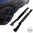 Black T6 Style Side Skirts Rocker Panels For 16 20 Chevy Camaro SS RS LT