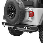 Fits 87 06 Jeep Wrangler YJ TJ Rear Bumper with 2 Hitch Receiver