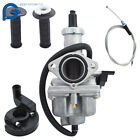 Carburetor For Honda XR100 XR100R CRF100F With Handlebar Grips & Throttle Cable