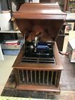 Vintage Edison Amberola DX Oak Phonograph Working With 10 Records