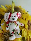 TY Jingle Beanies ~ 1998 HOLIDAY TEDDY Bear #3507 from 2001 New and Retired