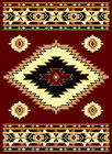 5240 Southwestern Native American Theme Living Room Rugs 52x73 RED