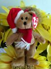 TY Jingle Beanies ~ 1997 HOLIDAY TEDDY Bear #3506 from 2001 New and Retired