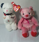 Ty Beanie Baby Lot of 2 American Blessing 2004 & Romance 2001 Both With Tags