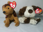TY Beanie Baby Lot of 2 Spuds The Dog 2004 & Courage the Dog 2001 Both W Tags