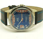 vintage hmt pilot hand winding stainless steel blue dial india made run order