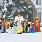 9pc Set Large Deluxe Expanded Metal Nativity Scene Christmas Yard Decor 17 45