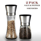 Salt and Pepper Grinder Set 2 Shakers Spices Mill Crusher Stainless Steel 5Grade