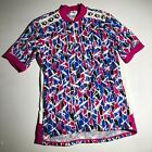 Vintage Pearl Izumi Pink Retro Cycling Jersey 80s 90s USA Made XL