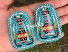 native american beaded post earrings