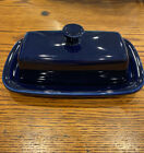 Fiesta Cobalt Blue Covered Butter Dish 1/4 Pound