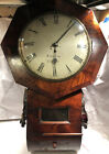 H Walton Of Bristol Antique English Fusee Railroad Pub School Wall Clock