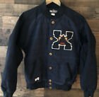 10 Deep Mens Medium Native American Full Button Varsity Jacket Blue