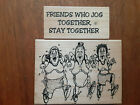USED lot of 2 Diamonds rubber stamps Friends Who Jog  Joggers