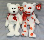 TY Beanie Babies SMOOCH & VALENTINO Bundle- Great Collectibles! (see pictures)