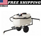 Tow Behind Sprayer In Lawn And Garden 25 Gallon Pull Mower Tractor 18 GPM 60psi