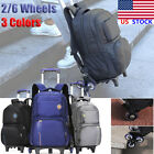 Student Boy Trolley Backpack School Travel Handbag Luggage 6 Wheels Shoulder Bag