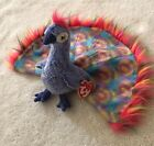 "TY BEANIE BABY ""Flashy"" The Peacock Great CondItion Very Rare"