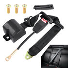 3 Point Universal Strap Retractable Adjustable Safety Truck Bus Seat Belt Black