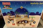 Fisher Price Little People Nativity Set Plays Music 17 Piece Complete