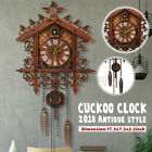 US Style Vintage Wood Cuckoo Clock Forest House Swing Wall Handcraft Room