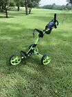 Clicgear 35+ Golf Push Pull Cart For Walking Black Lime Green LOCAL PICK UP