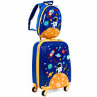 2PC Kids Luggage Set 18 Rolling Suitcase  12 Backpack ABS Spaceman as Gifts