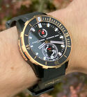 Ulysse Nardin Maxi Marine Diver | Men's Rose Gold Black Titanium Watch 1185-170