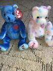 TY BEANIE BABY BEARS MOM -E AND DAD-E BEARS - RETIRED lot - With tags