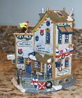 Lemax Plymouth Corners Salty's Shell Shack Blue Whale Christmas Village Building