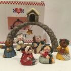 Nativity Creche Midwest Cannon Falls Mini Merry Little Christmas Walker Orig Box