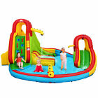 Kids Gift Inflatable Water Slide Pool Park Bounce House Climbing Wall Game Fun