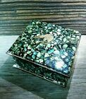 NICE Vintage Genuine Paua Shell Trinket Box from New Zealand