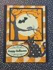 Stampin Up Spooky Cat Halloween Card Kit of 4 Handmade