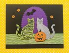 Stampin Up Spooky Cats on Halloween Card Kit of 4 Handmade